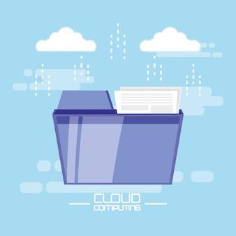 Cloud computing avec dossier de documents