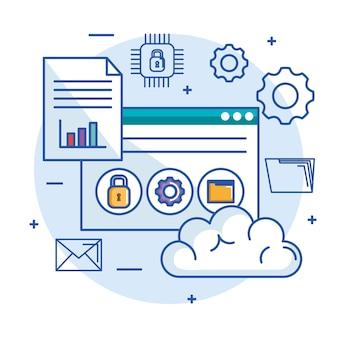 Cloud computing hébergement de serveur de stockage de données et la sécurité de la technologie