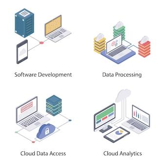 Cloud computing vecteurs isométriques