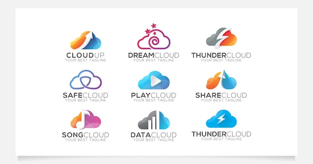 Cloud logo collection pour entreprise ou agence