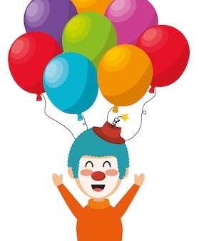 Clown ballons festival funfair drôle conception