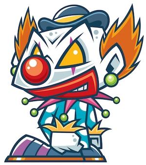 Clown de bande dessinée