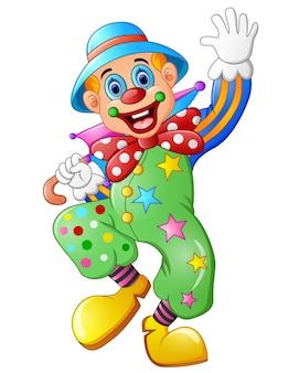 Clown drôle sur un fond blanc