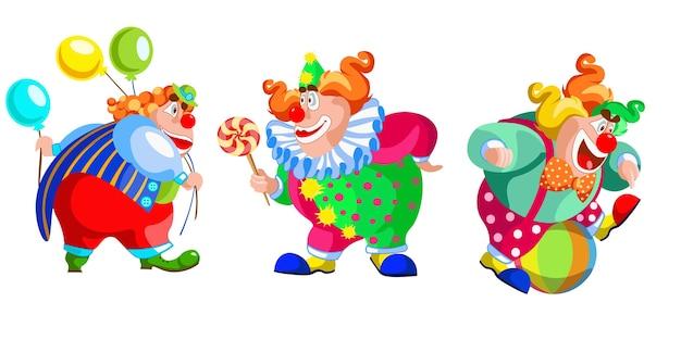 Clown drôle heureux