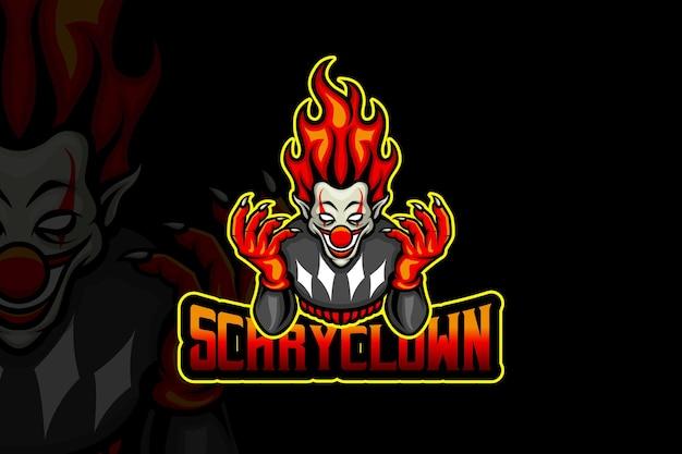 Clown effrayant - modèle de logo esport