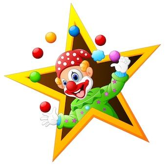 Clown jonglant