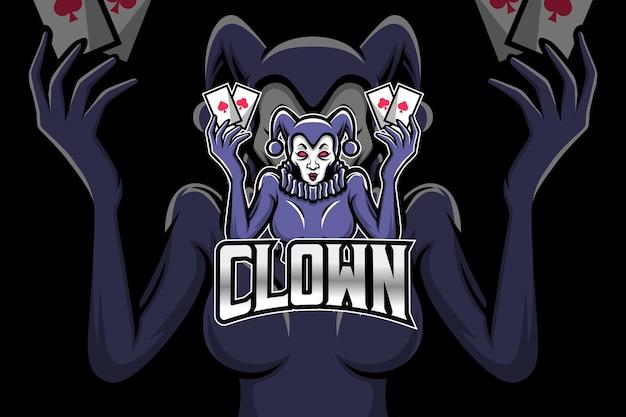 Clown - modèle de logo esport