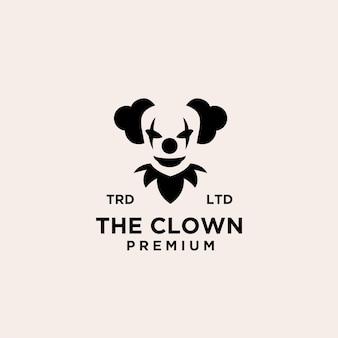 Clown premium / joker logo icône design illustration vectorielle