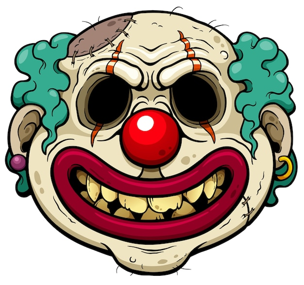 Clown zombie cartoon