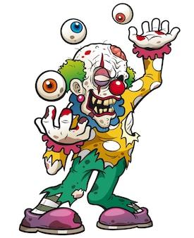Clown zombie cartoon