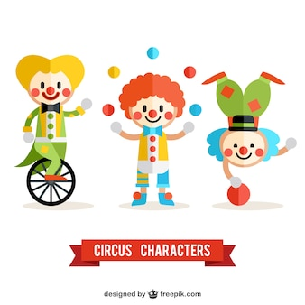 Clowns de cirque emballent