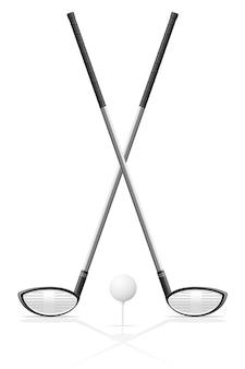 Club de golf et balle.
