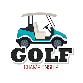 Club de golf sport icône vector illustration design
