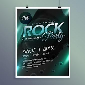 Club rock party modèle musique flyer