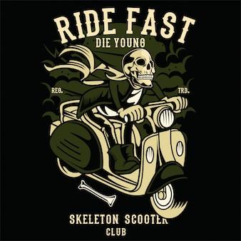 Club de scooter de crâne