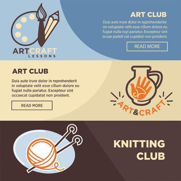 Club de tricotage de poterie et d'artiste peintre