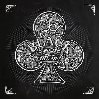 Clubs black jack craie