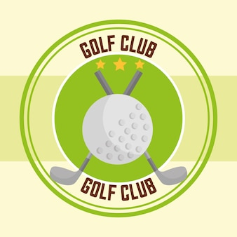 Clubs de golf ball sport design de timbres