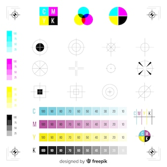 Cmyk marque collection de calibration