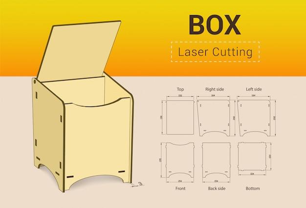 Cnc. boîte de découpe laser.