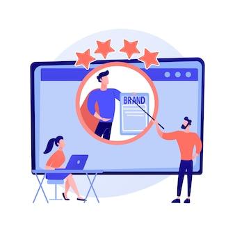 Coach de marque d'identité. cours de développement personnel, réputation de personnalité, amélioration de l'estime de soi. webinaire de mentorat en ligne sur le positionnement personnel.