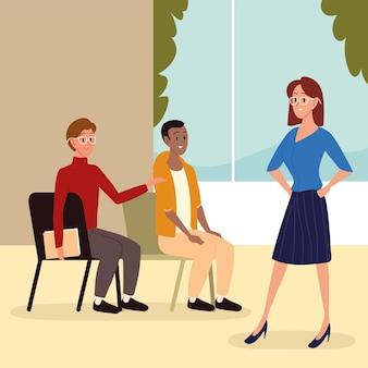 Coaching de femme d'affaires