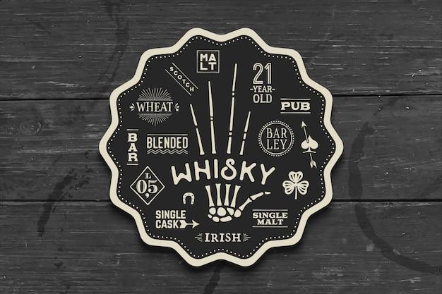 Coaster pour whisky et boissons alcoolisées