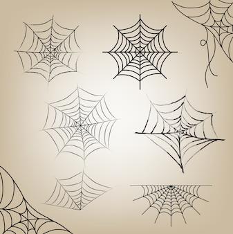 Cobweb set halloween pour objet halloween day