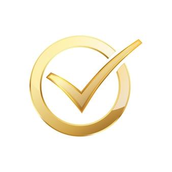 Coche dorée à l'intérieur dans le cercle doré