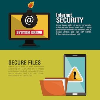 Coche de sécurité infographique