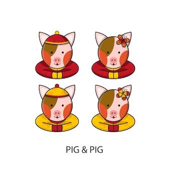 Cochon chinois bonne année