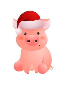 Cochon rose, caractère, bonnet