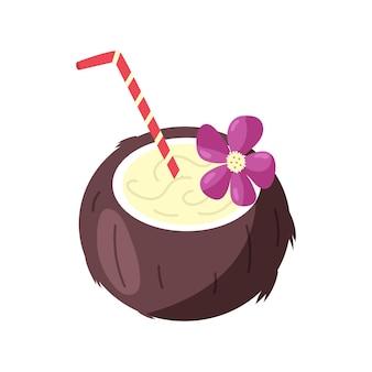 Cocktail au lait de coco