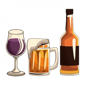 Cocktail bière et bouteille