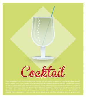 Cocktail de boisson fraîche fond vert