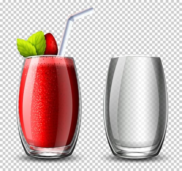 Un cocktail à la fraise sur fond c