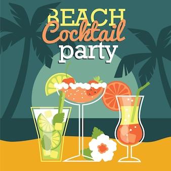 Cocktail de plage. illustration vectorielle