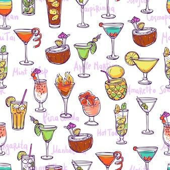 Cocktail seamless pattern