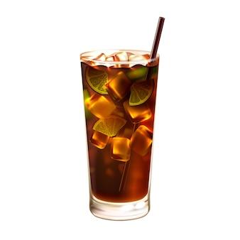 Cocktail de thé glace longue île réaliste