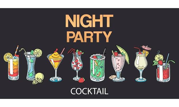 Cocktails alcoolisés isolés.
