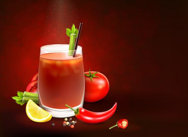 Cocktails composition réaliste