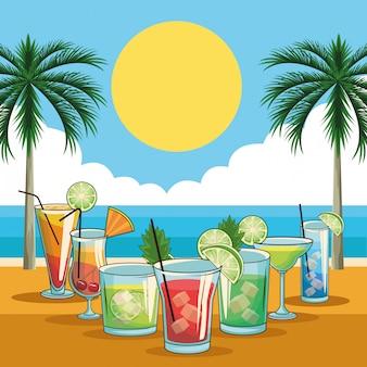 Cocktails tropicaux