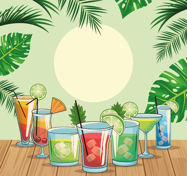 Cocktails tropicaux