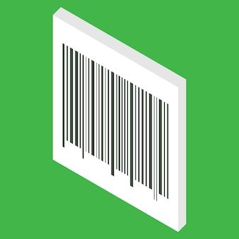 Code à barres isométrique isolé sur fond blanc le code à barres peut être utilisé pour le paiement de la vente