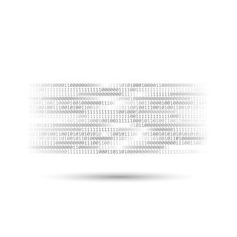 Code binaire en demi-teinte. flux d'informations et de données. abstrait arrière-plan de la technologie informatique. éléments dynamiques pour la conception. codage, programmation, développement de logiciels.