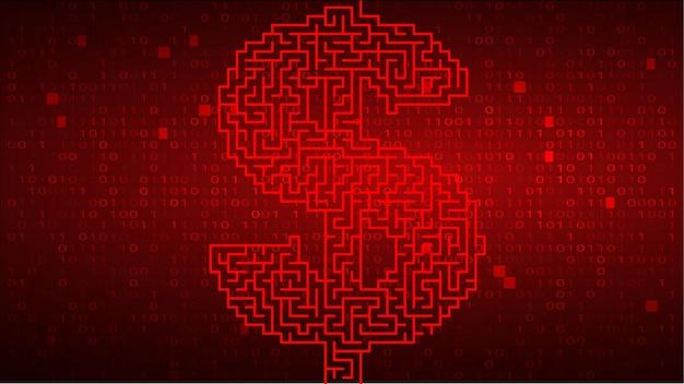 Code binaire numérique sur fond rouge avec dollar
