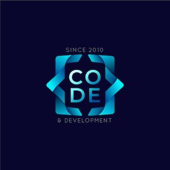 Code de dégradé et logo de développement