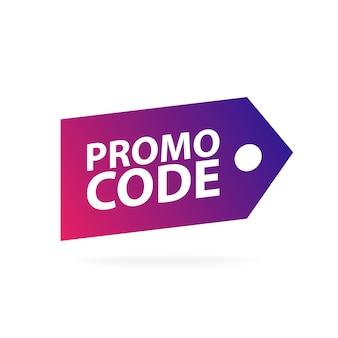 Code promo, code promo. vector plate set design illustration sur fond blanc.