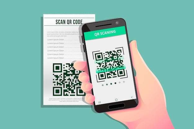 Code qr de numérisation de smartphone