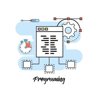 Code de système de programmation d'informations technologiques